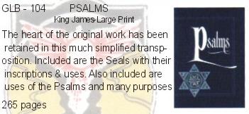 PSALMS - KING JAMES-LARGE PRINT - Guardian Light Mystic Center